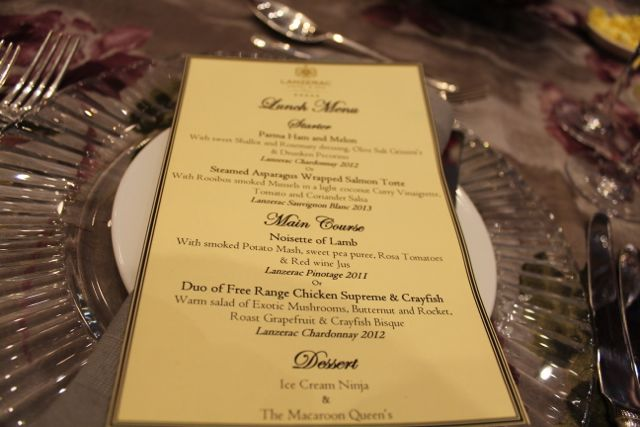 The decadent menu