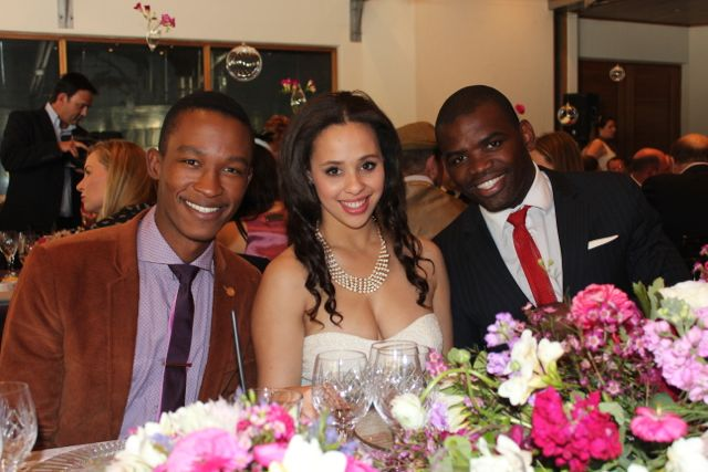 Expresso presenter Katlego Maboe with Nicole Bessicfk and Siv Ngesi