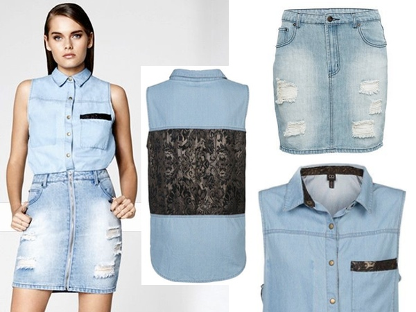 Cotton On Denim Skirt - Dress Ala